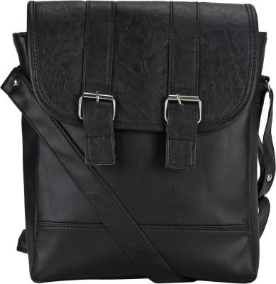 Coash Women Black PU Sling Bag
