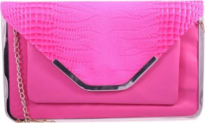 Pinkdivaas Girls Pink Leatherette Sling Bag