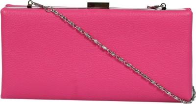 ToniQ Girls, Women Casual Pink PU Clutch
