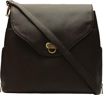 Borsavela Women Casual Brown PU Sling Bag