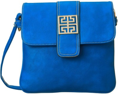 Cappuccino Women Casual Blue Leatherette Sling Bag