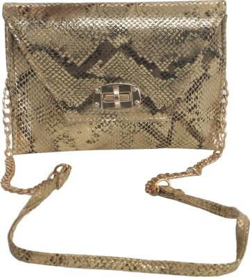 Knighthood Women Gold PU Sling Bag