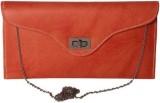 Kuero Women Orange Leatherette Sling Bag