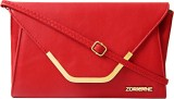 Zoricane Women Red PU Sling Bag