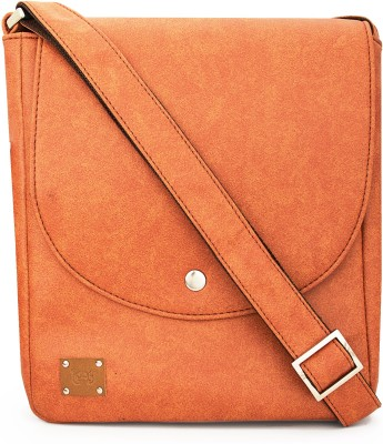 toog Girls, Women Brown Leatherette Sling Bag