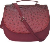 Kreative Bags Women Maroon PU Sling Bag