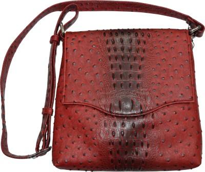 Knott Girls Red Leatherette Sling Bag