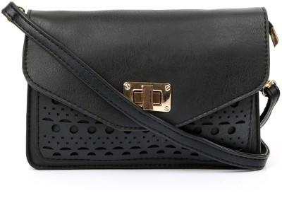 Cappuccino Girls Black PU Sling Bag