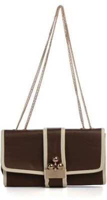 Cathriem Women Casual, Evening/Party Brown PU Sling Bag