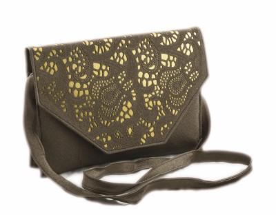 Voaka Women, Girls Brown Leatherette Sling Bag