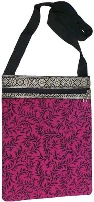 Bhamini Women Pink Cotton Sling Bag