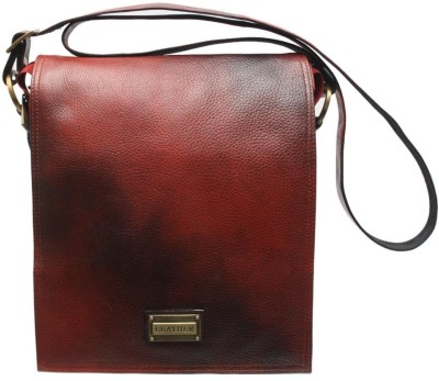 Chanter Men, Women Casual Red Genuine Leather Sling Bag