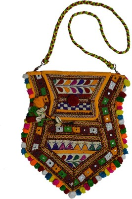 Craftuno Girls, Women Casual Multicolor Cotton Sling Bag