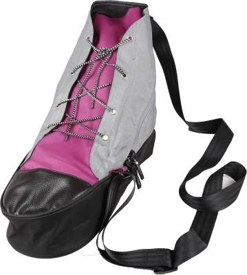 Zwart Men, Women Casual Grey, Pink Polyester Sling Bag