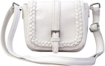 Lychee Bags Girls Casual White PU Sling Bag