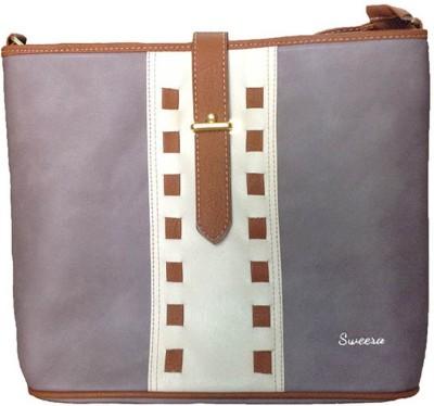 SWEERA Women Grey PU Sling Bag