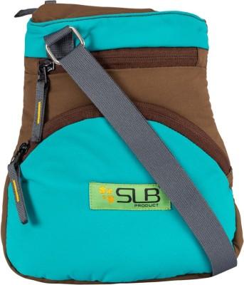 SLB Girls Casual Brown, Blue Canvas Sling Bag