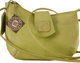 eZeeBags Women Green Genuine Leather Sli...