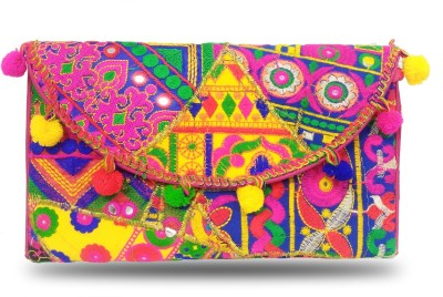 Online Keeda Girls Multicolor Cotton Sling Bag