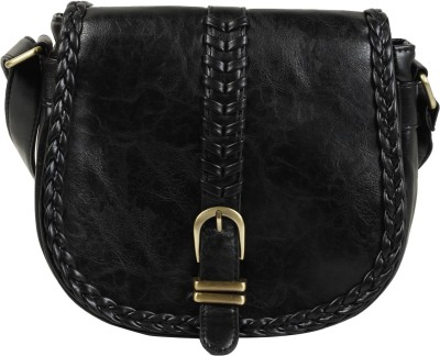 Colors Inc. Women Black Leatherette Sling Bag