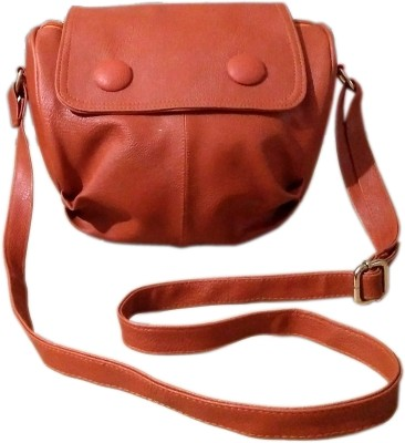MADASH Girls Maroon PU Sling Bag