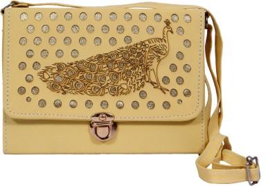 zasmina Girls Beige Leatherette Sling Bag