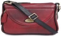 Bessel Women Maroon Genuine Leather Sling Bag