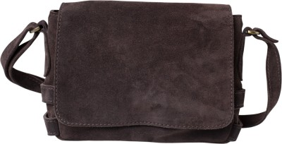 Romari Girls, Women Brown Genuine Leather Sling Bag