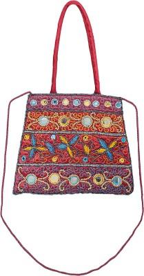 VERMELLO Girls, Women Casual, Evening/Party Red Silk Sling Bag