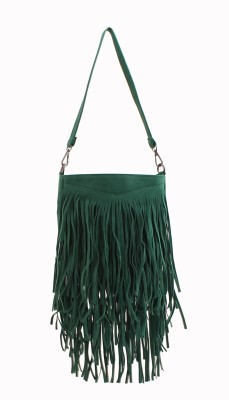 Heaven Deal Women, Girls Green Leatherette Sling Bag