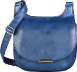 Lino Perros Women Blue Leatherette Sling...
