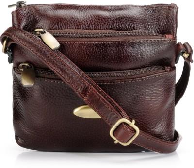 Teakwood Women Brown Genuine Leather Sling Bag