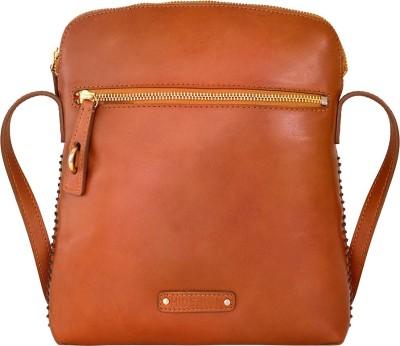 Hidesign Men Tan Genuine Leather Sling Bag