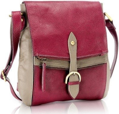 Phive Rivers Women Casual Pink Genuine Leather Sling Bag