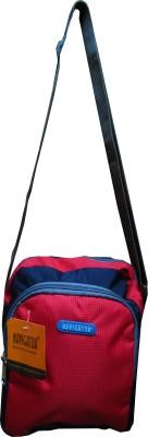 Navigator Men, Women Casual Blue, Red PU Sling Bag