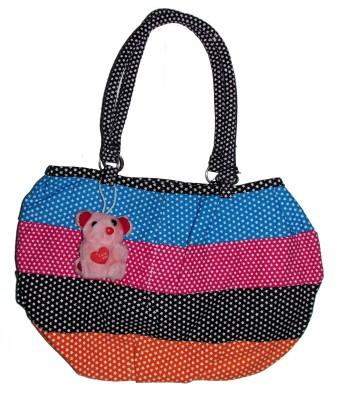 Adara Collections Women Pink, Black, Multicolor Cotton, Nylon Hand-held Bag