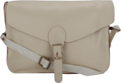 Jolie Women White PU Sling Bag