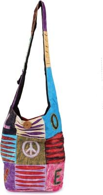 Mojeska Men, Boys, Girls Multicolor Cotton Sling Bag