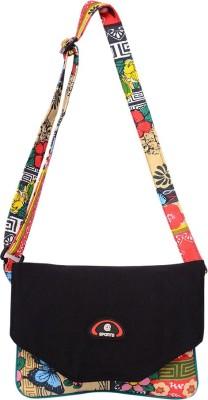Roshiaaz Women Black Canvas Sling Bag