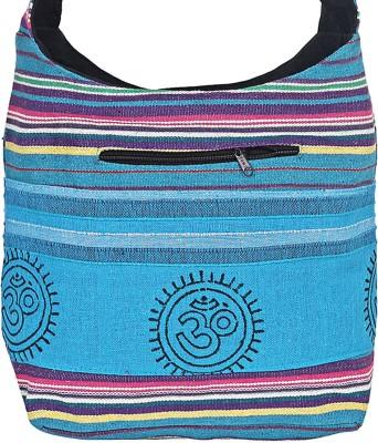 Jaipuri Haat Girls Blue Cotton Sling Bag