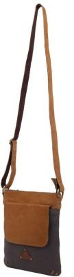 Fabulloso Women Brown Canvas Sling Bag