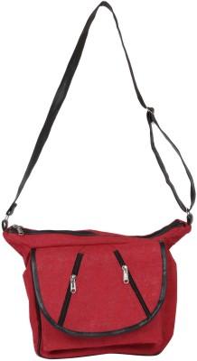 Benicia Women Red Jute Sling Bag