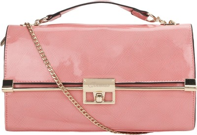 Leora Women Pink PU Sling Bag