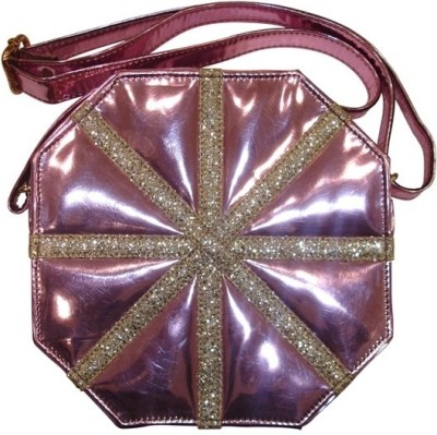 PNA Girls Casual Pink PU Sling Bag
