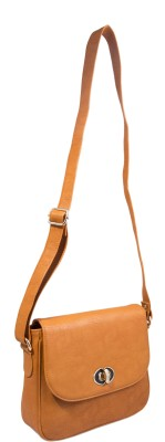 Berryvelve Women Casual Orange PU Sling Bag