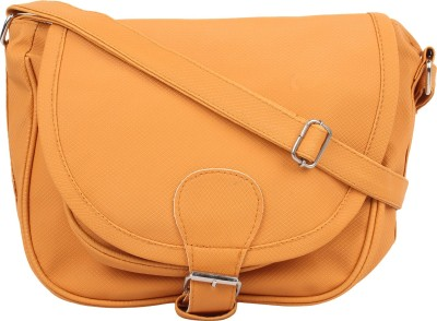 Cottage Accessories Girls Orange PU Sling Bag