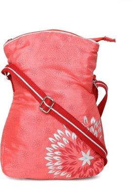 Anouk Women Pink Canvas Sling Bag