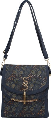 PST Women, Girls Blue PU Sling Bag