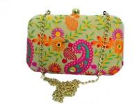 5elementz Girls Multicolor Metal Sling Bag