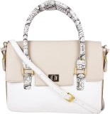 Zaera Women Formal White PU Sling Bag